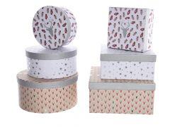 K Pgm Paper Gift Box Assortiment Per Stuk Red/Silver 14X14X6Cm