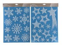 K Home Sticker Snow Glitter Assortiment Per Stuk White/Glitters 29.5X40Cm