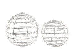 K Led Sphere W Flash Outd Warm White Dia40Cm-150L