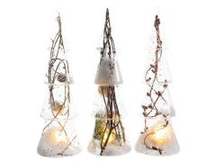 K Glass Tree W Led W Nature Assortiment Per Stuk Natural Dia9X35Cm-2L