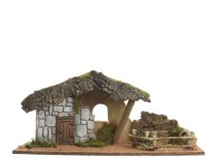 K Nativity House Natural 19X28Cm