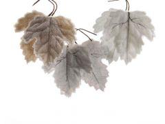K Flock Leaf Frozen 3Col Ass Assortiment Per Stuk 12X13Cm