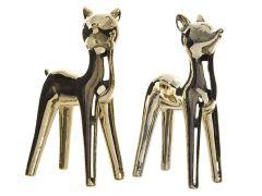 K Dol Deer Standing Assortiment Per Stuk Gold 9X15.2X28Cm 10X17X28Cm