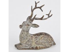 Deer Lying Polyresin Brown-Cream 12X12X7Cm