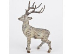 Deer Standing Polyresin Brown-Cream 25X16X8Cm
