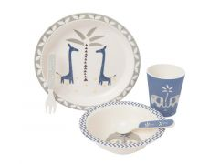 DINNER SET BAMBOO GIRAF