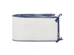 Fresk Baby Bed Bumper 180 Cm Diagonals Indigo Blue