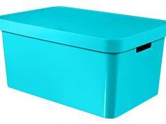 Curver Infinity Box M. Deksel 45L 57X39Xh27Cm Mol. Blauw