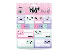 Bubble Cute 12 Schooletiketten & 36 Stickers