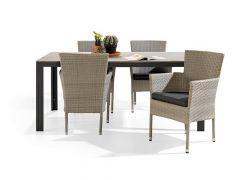 Lyon Diningstoel Stapelbaar Alu-Wicker 58X57X88Cm