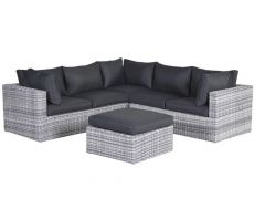 Silverbird Lounge Set 4-Delig Cloudy Grey/ Kussens Reflex Black