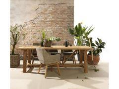Garda Varese Recycled Teak Tafel Rustic Style 250X100Cm