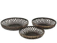Mand Bamboo Zwart S