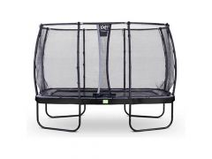 Exit Elegant Trampoline Rect. 244X427Cm + Safetynet Deluxe Black