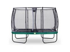 Exit Elegant Trampoline Rect. 214X366Cm + Safetynet Deluxe Green