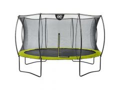 Exit Silhouette Trampoline + Safetynet 366Cm Lime