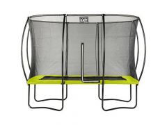 Exit Silhouette Trampoline + Safetynet Rect. 244X366Cm Lime