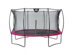 Exit Silhouette Trampoline + Safetynet 427Cm Pink