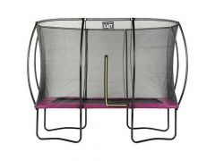 Exit Silhouette Trampoline + Safetynet Rect. 244X366Cm Pink