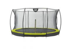 Exit Silhouette Ingraaf Trampoline + Safetynet 427Cm Lime