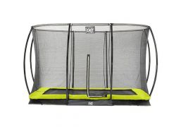 Exit Silhouette Ingraaf Trampoline + Safetynet Rect. 244X366Cm Lime