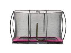 Exit Silhouette Ingraaf Trampoline + Safetynet Rect. 214X305Cm Pink