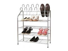 Shoe Rack 4 Levels + 6 Pairs Storage 69.5 X 27.5 X H88 Cm