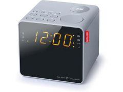 Muse M 187 Clg Cube Clock Radio Light Grey Finish
