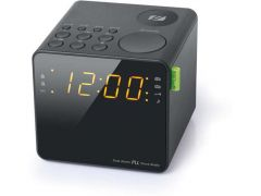Muse M 187 Cr Cube Clock Radio Black Finish