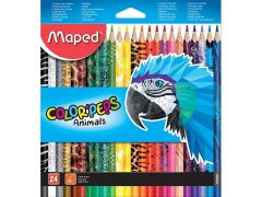 Colorpeps Animals Kleurpotloden Ophangdoos 24St