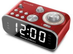 Muse M 18 Crd Vintage Clock Radio Red Finish
