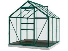 Serre Intro Grow - Daisy - 3,8M² Groen Ral6009 Gehard Glas 3Mm - 1,93M X 1,95M X H1,24M/1,95M