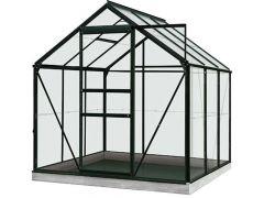 Serre Intro Grow - Daisy - 3,8M² Zwart Ral9005 Gehard Glas 3Mm - 1,93M X 1,95M X H1,24M/1,95M