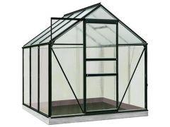 Serre Intro Grow - Daisy - 3,8M² Zwart Ral9005 Poly 4Mm - 1,93M X 1,95M X H1,24M/1,95M