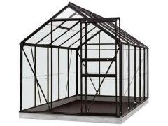 Serre Intro Grow - Lily - 6,2M² Zwart Ral9005 Gehard Glas 3Mm