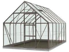 Serre Intro Grow - Oliver - 9,9M² Antraciet Grijs Ral7016 Poly 6Mm - 2,57M X 3,84M X H1,20M/2,23M