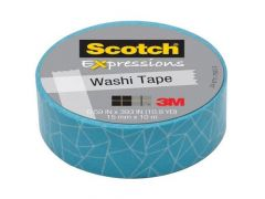 Scotch Expressoins Tape Refill Blue Cracked 15Mm X 10Mm