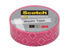 Scotch Expressions Tape Refill Roze Met Motief 15Mmx10Mm