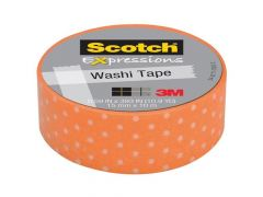 Scotch Expressions Tape Refill Oranje Spikkels 15Mmx10Mm