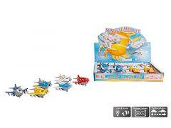 Die Cast Pull Back Sonic Jumbo Jet 9Cm 6Ass.