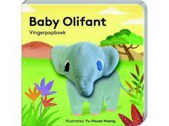 Vingerpopboekje Baby Olifant