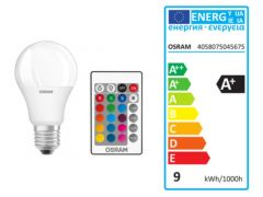 Osram Led Star+ Cl A Rgbwfr 60 9W/827 E27
