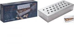 Smoker Box Rvs 24X10X4.5Cm. 23 Gaatjes 300Gr