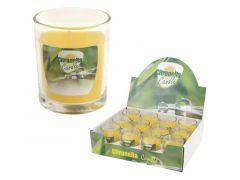 Citronellakaars In Glazen Pot 7X8Cm, 12St In Doos