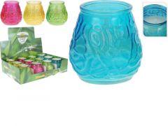 Citronellakaars In Glas, 12St In Display, 4Assortiment Prijs Per Stuk Klr  9X9.8Cm