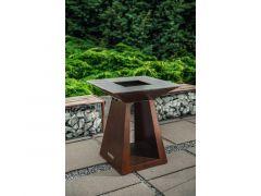 Quan Garden Art Quadro Basic Line Medium 80X80Cm H90Cm Corten Roestkleur