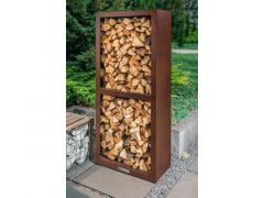 Quan Garden Art Quadro Basic Line Wood Storage 80X40Cm H180Cm Corten Roestkleur