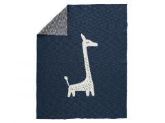 Fresk Gebreide Deken 100 X 150 Cm Giraf Indigo