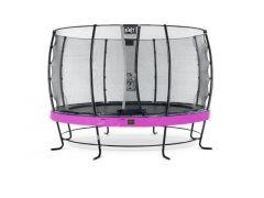 Exit Elegant Premium Trampoline 427Cm + Safetynet Economy Purple
