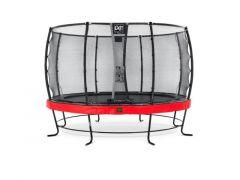 Exit Elegant Premium Trampoline 427Cm + Safetynet Deluxe Red